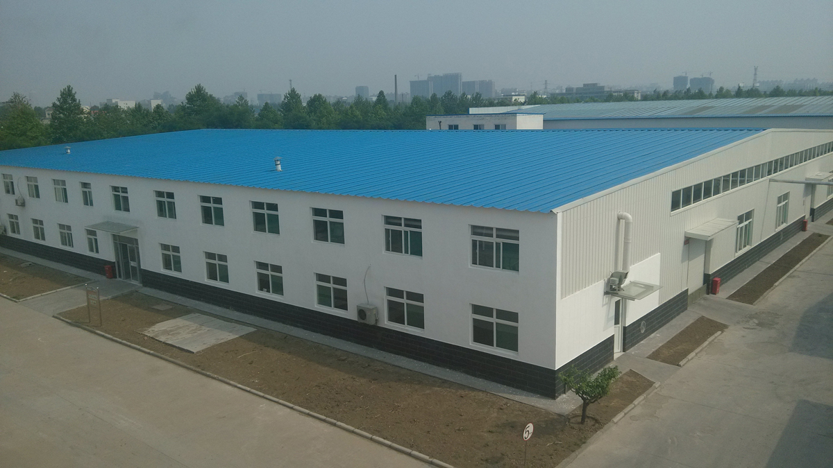 a vertical view of purelife new factory