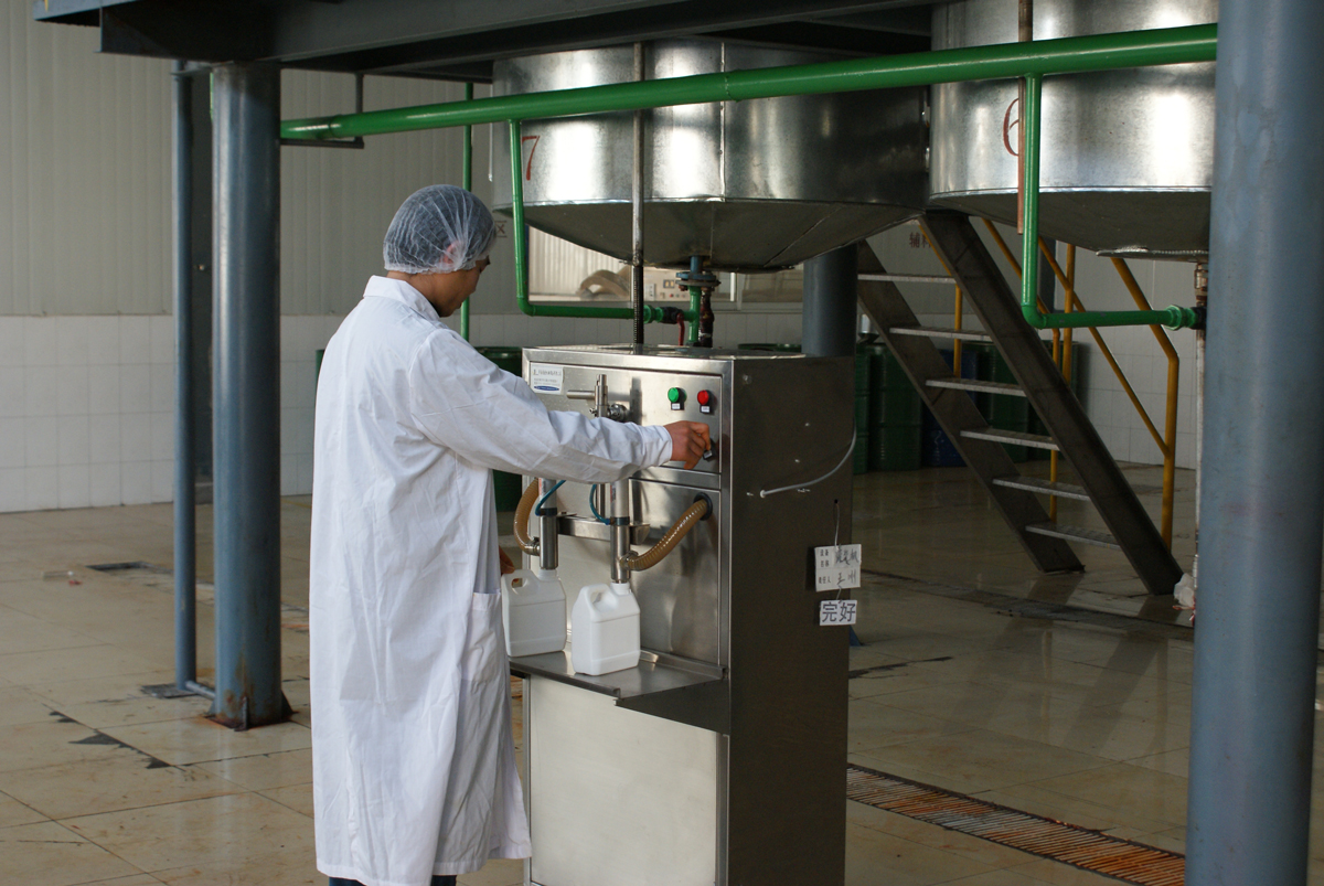 part of purelife supplement production line